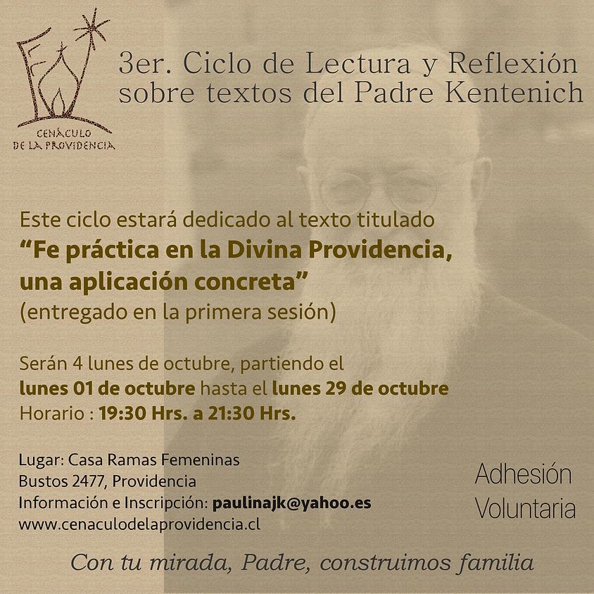 3er. Ciclo de Lectura y Reflexión sobre textos del Padre Kentenich