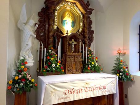 Misa de Alianza y bendición de frontal del Padre Kentenich