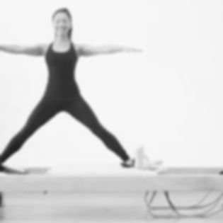 Side Splits on Pilates Reformer