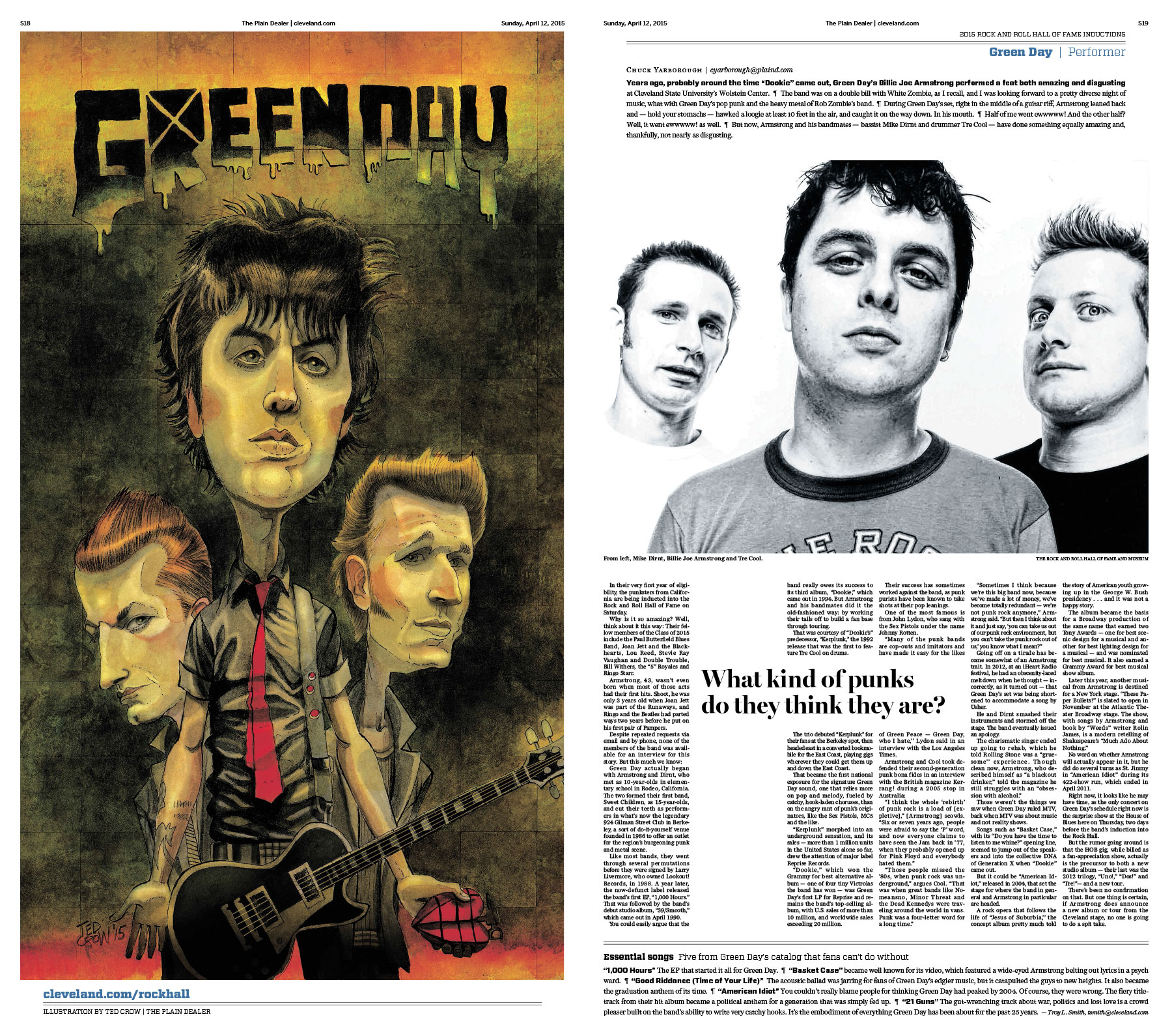 Greenday Rock Hall preview
