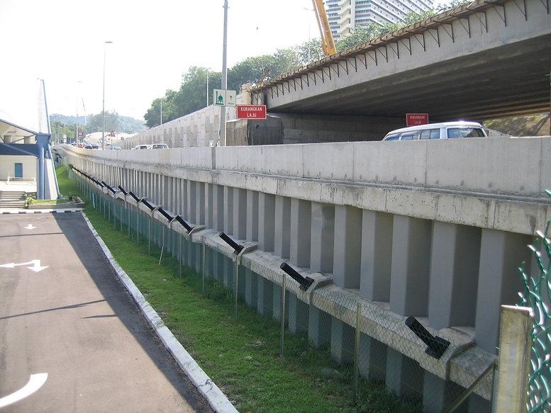 sheet piles used in road widening
