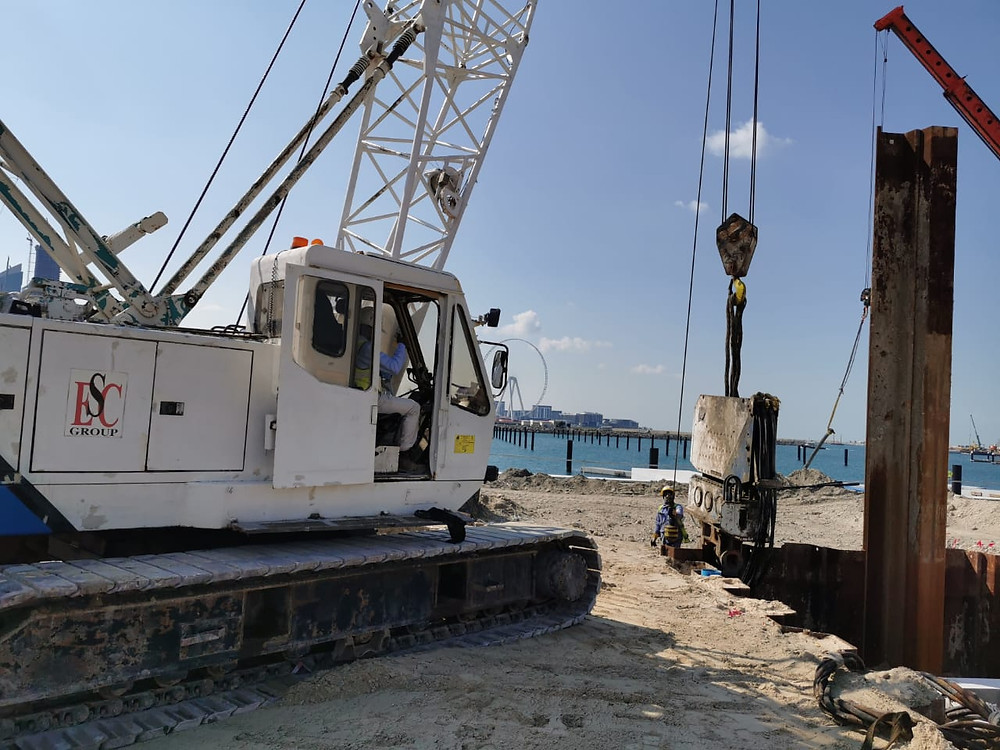 sheet pile extraction 1