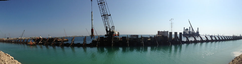 Sheet piles & pipe piles for quay wall