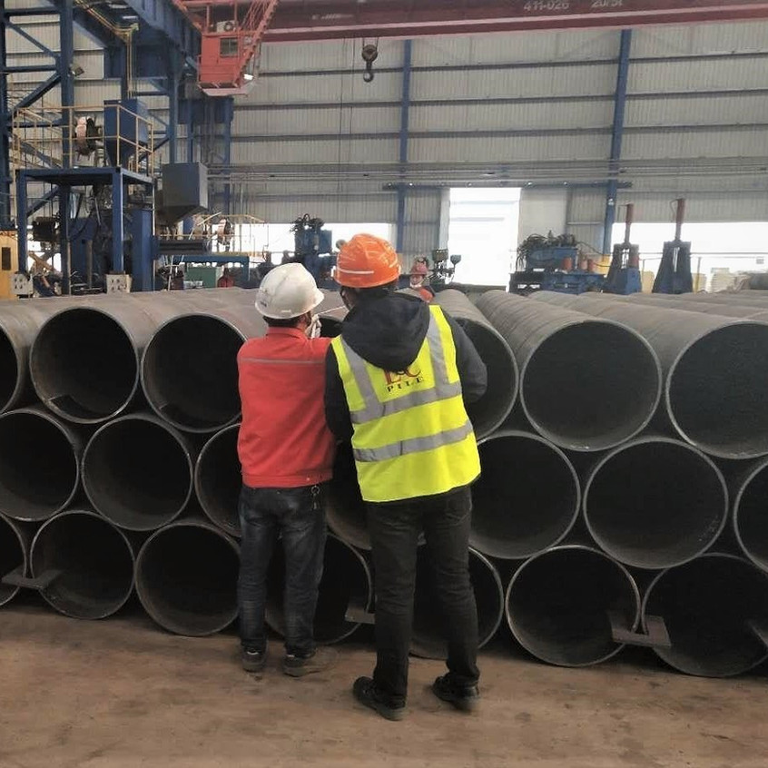 Inspection of steel pipes