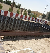 Trench sheets installation
