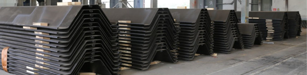 Sheet piles cold rolled