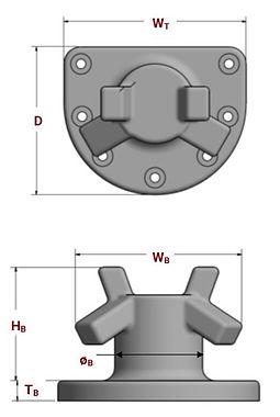 T-horn bollard specifications