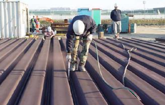 Sheet Pile Interlock Sealant Installation