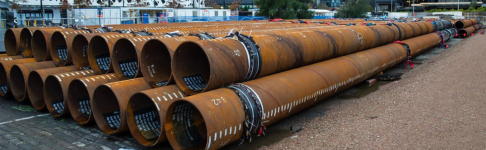 Large diameter steel pipe piles