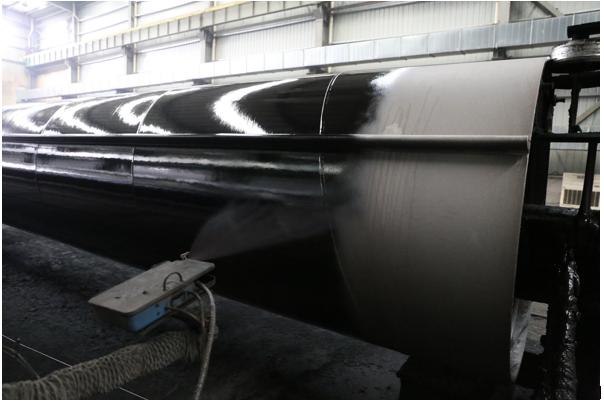 corrosion coating on tubular piles