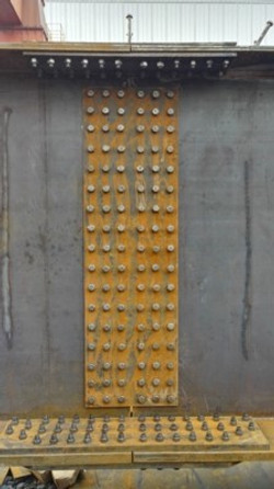 Bridge Girder Splicing Connections were also trial fitted