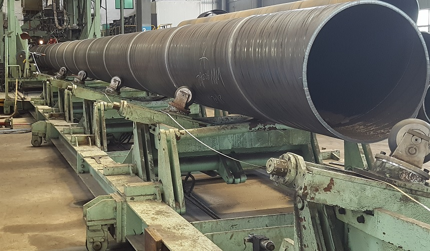 SSAW pipe production