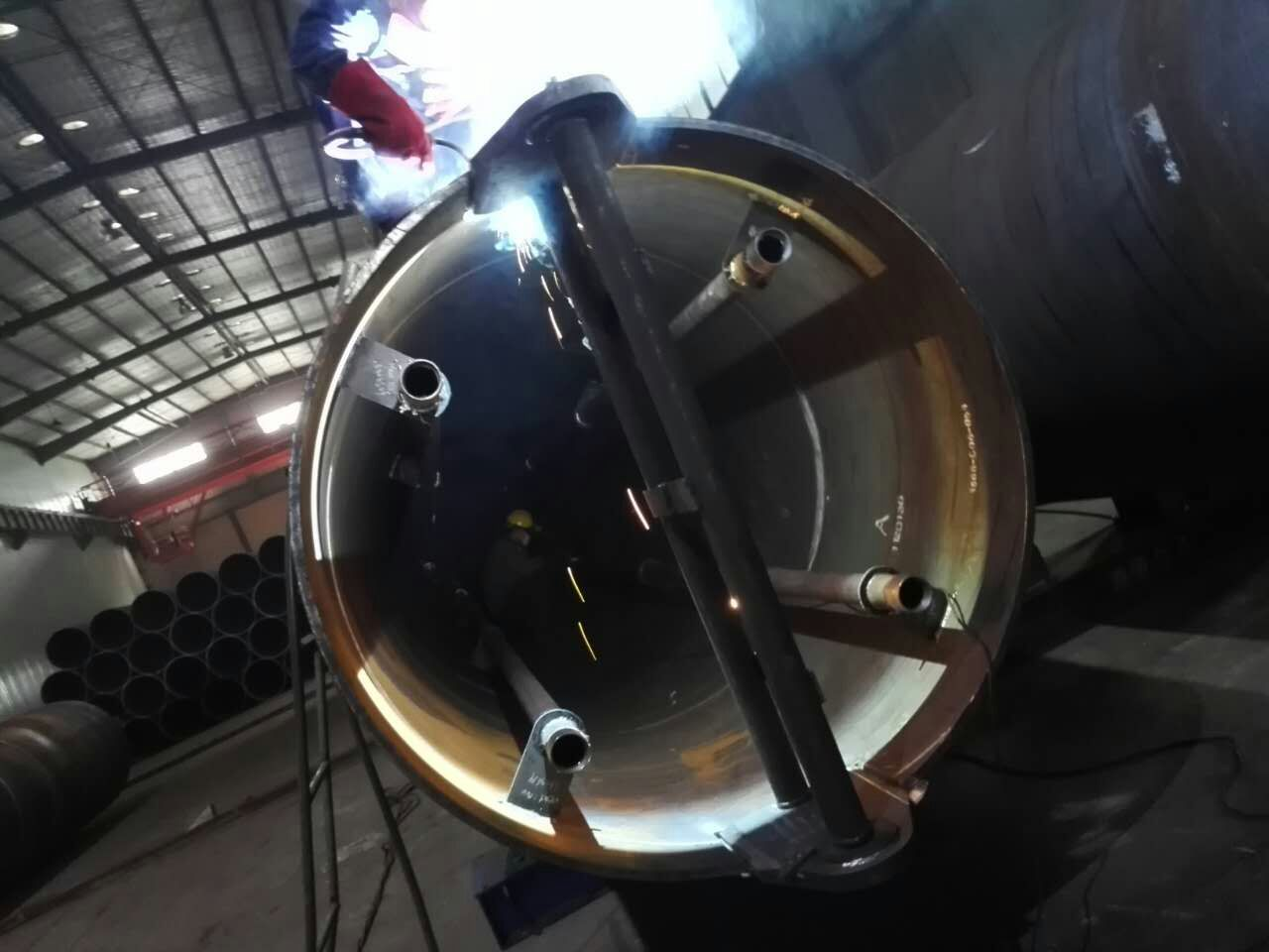 Internal Pipe Welding of Shear Rings and Grouting Pipes