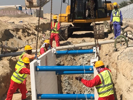 Trench Boxes Supply, Maqta Channel Site Project in Abu Dhabi