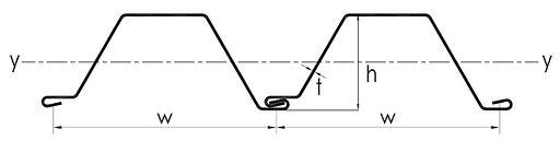 Sheet pile CFW Series drawing