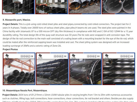 Plagiarism of ESC product and project photos - Nanjing Grand Steel Piling