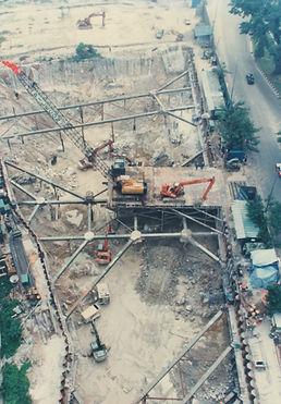 Highway underpass construction