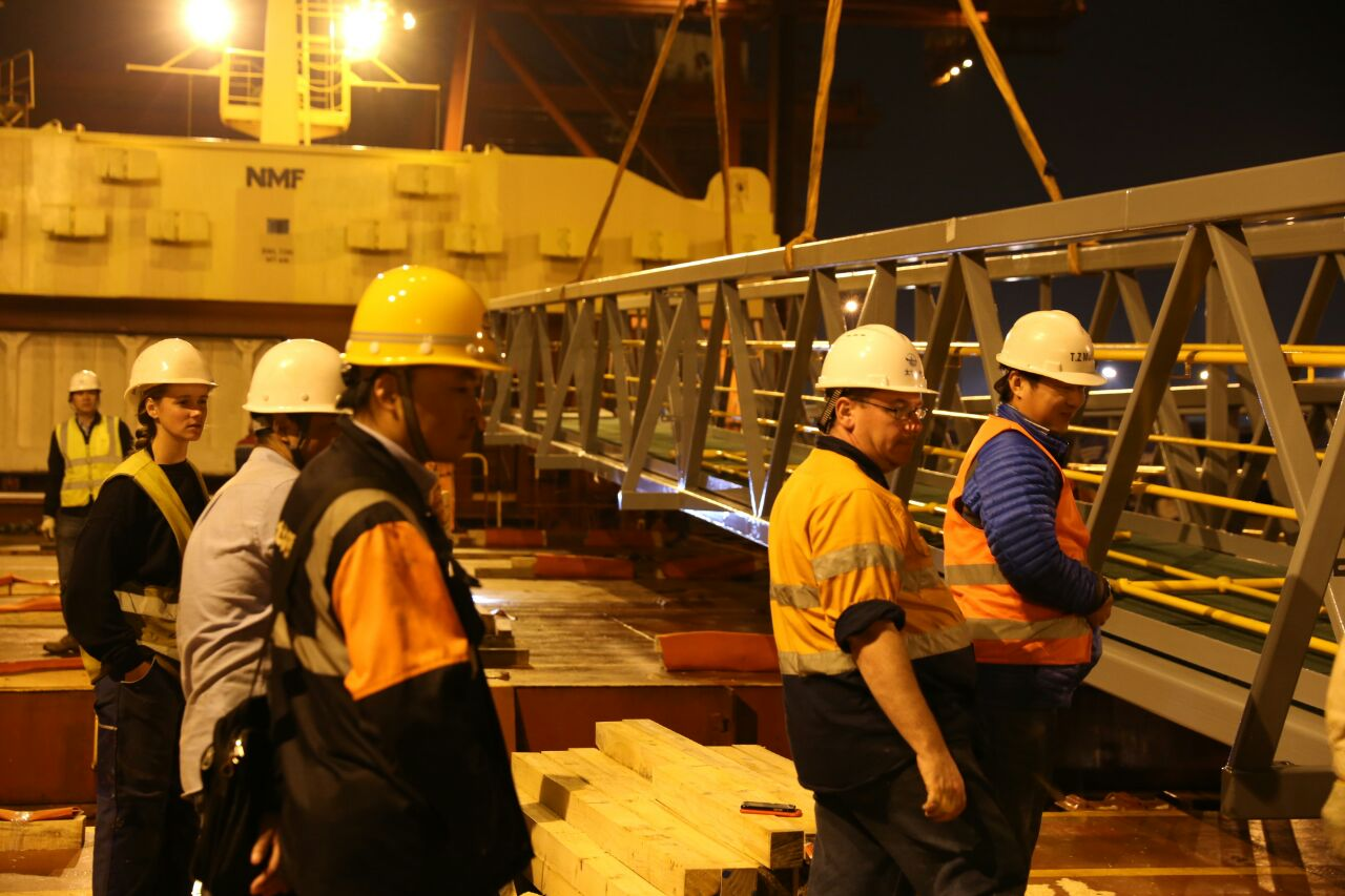 Loading Inspection of Gangways by ESC and the client
