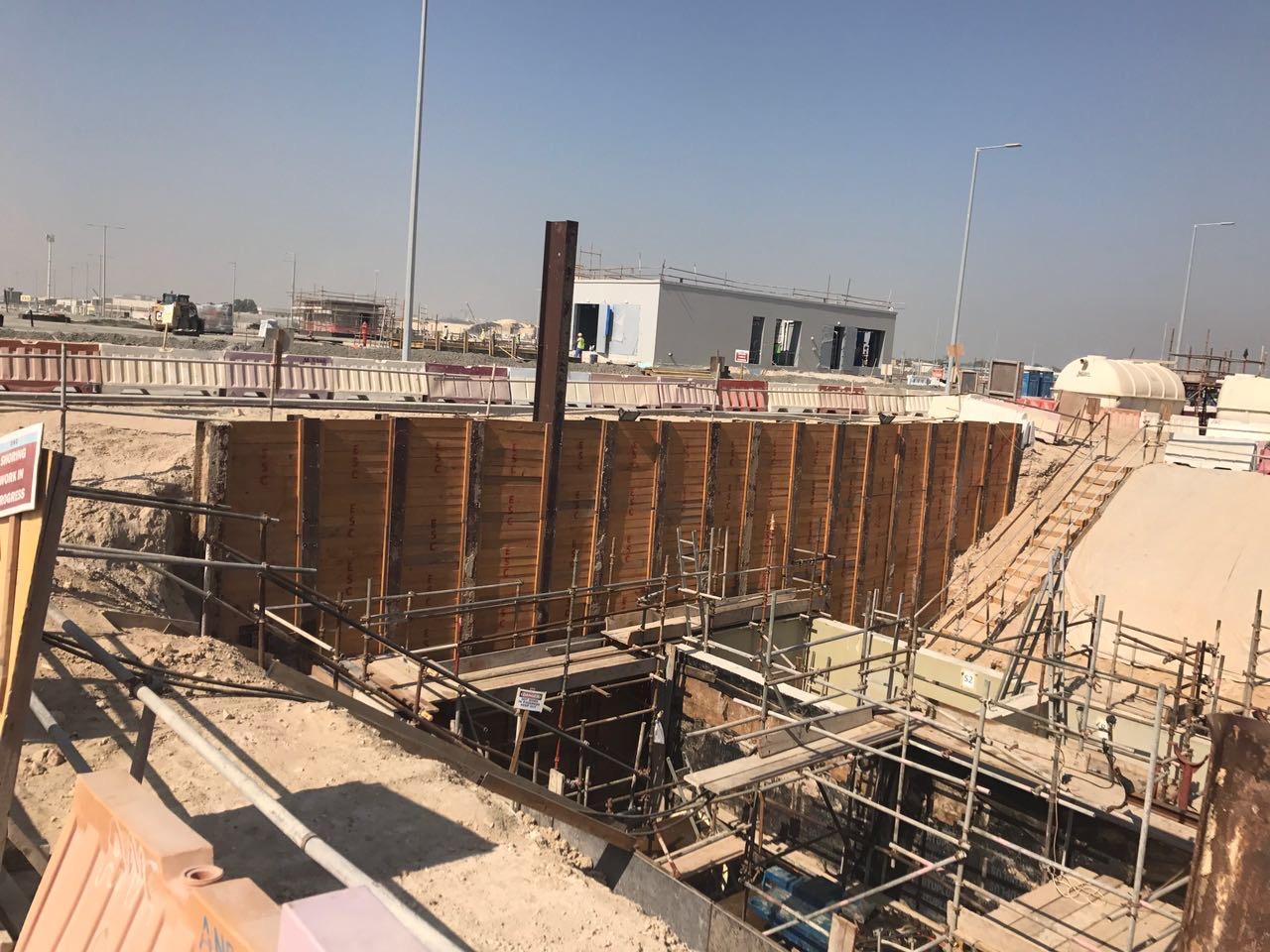 H beams used in shoring works