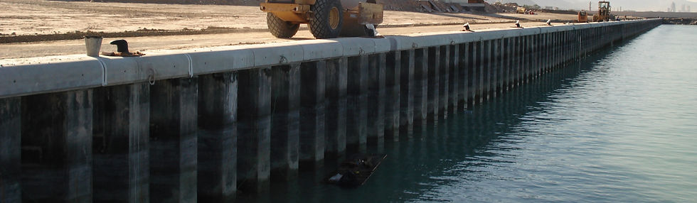 ESC Z steel sheet piles out for a quay wall project