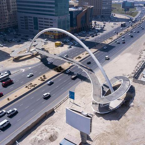 Al Ittihad Footbridge Arch, United Arab Emirates