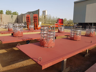 Supply, Fabrication, Blasting & Painting of Bollard Plates