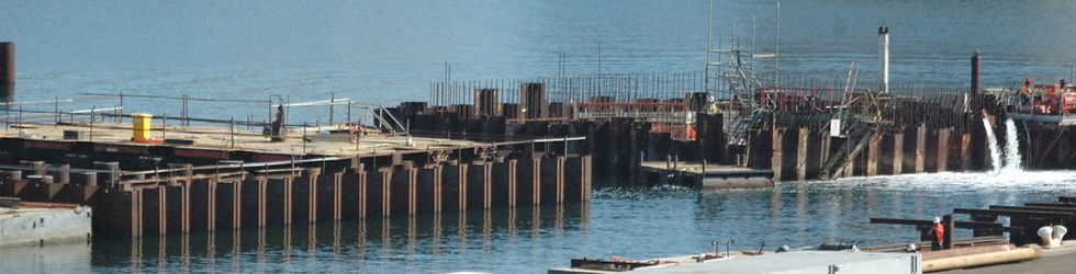 Bascule bridge cofferdam