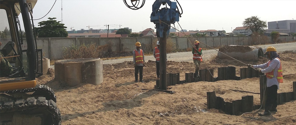 Drainage system construction using steel sheet piles