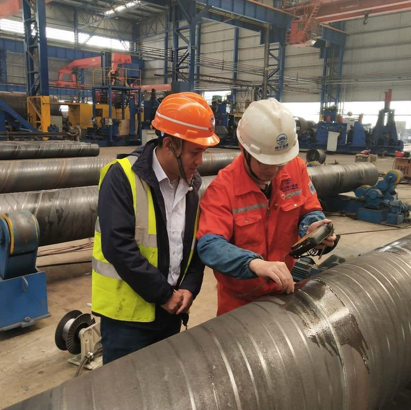 Steel pipes inspection