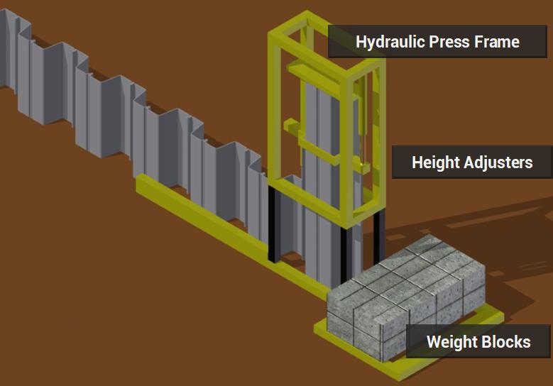 pvc sheet piles installation method