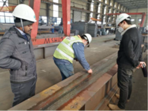 bridge girder materials undergoing ultrasonic test