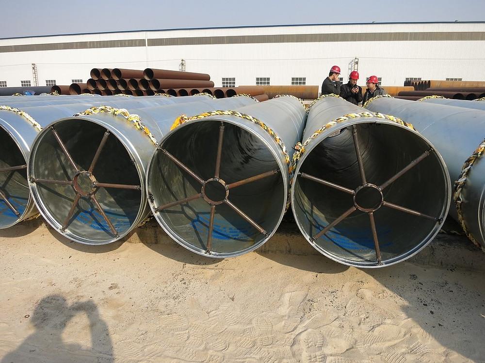 Hot dip galvanized pipe piles