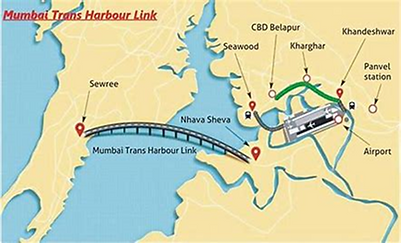 esc supplied bridge girder to mumbai trans harbour link project