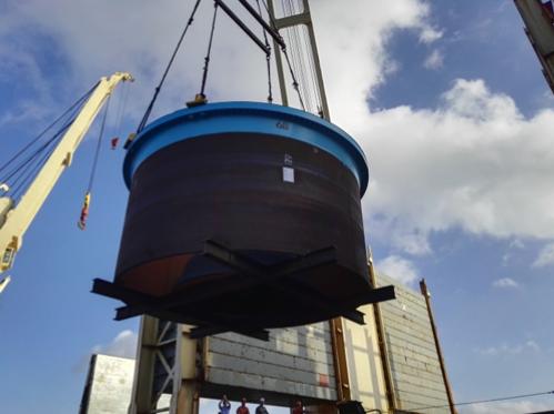 Pressure vessel loading