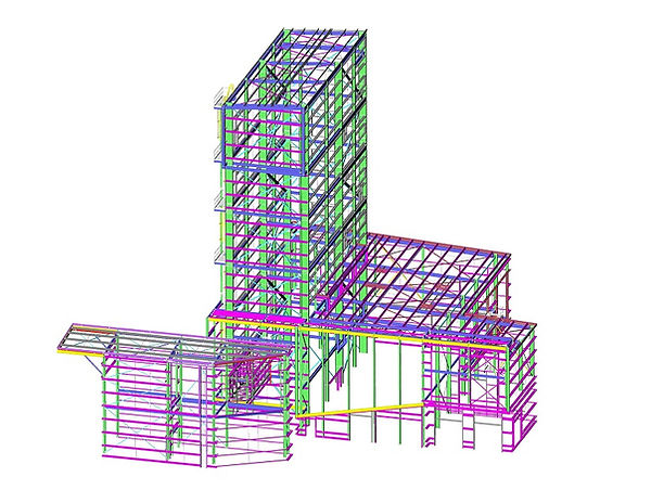 3D Model of prefabricated building structure