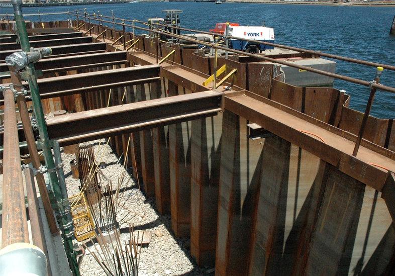 Steel sheet piles for Cofferdam construction