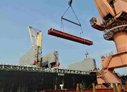 loading of bridge girder material