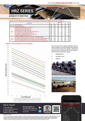 Sheet piles durability datasheet