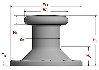 Pillar Japanese bollard specifications