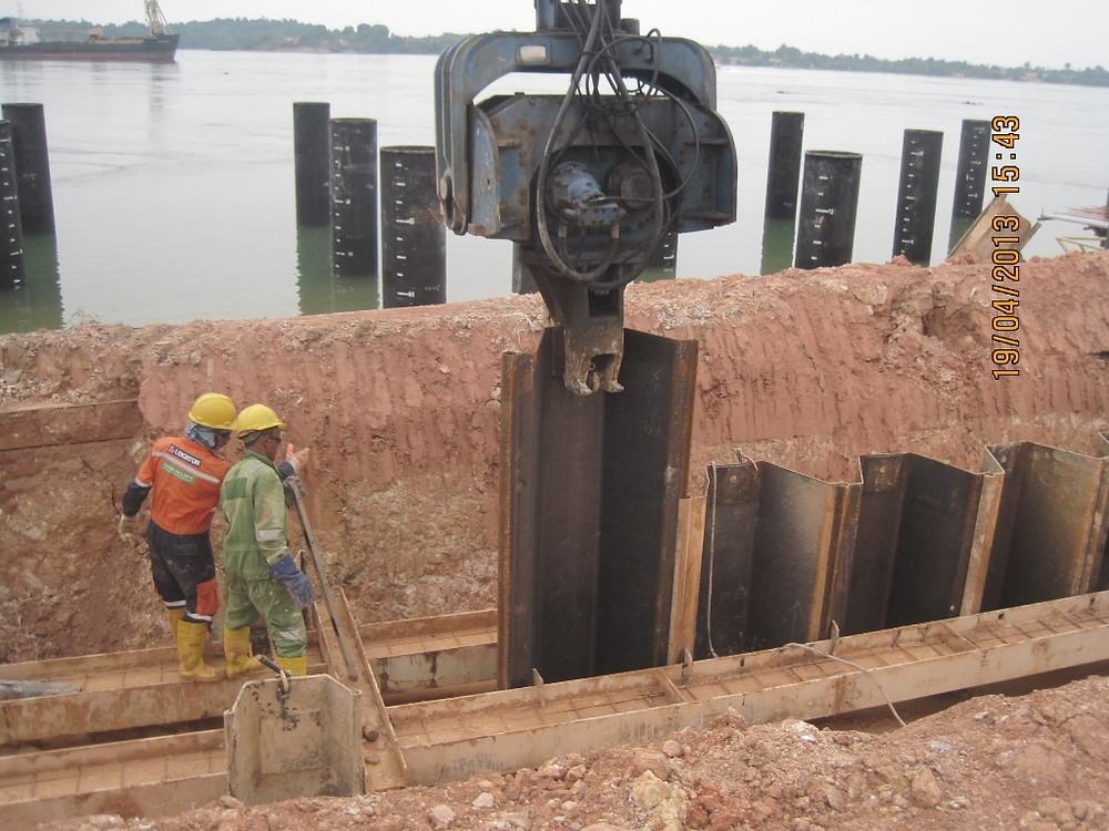 how to install sheet pile