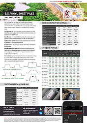 vinyl sheet pile datasheet
