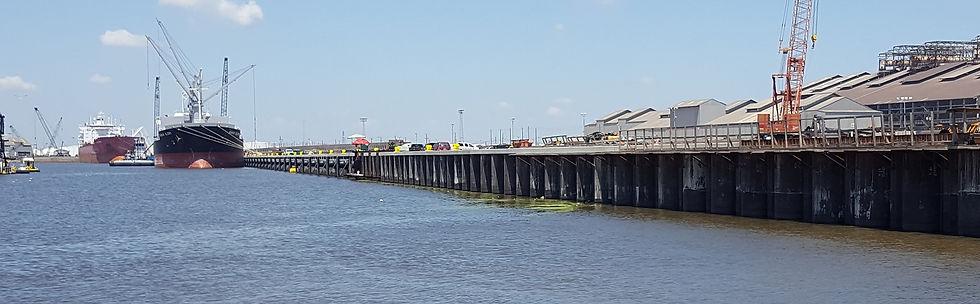 Sheet piles for harbour construction
