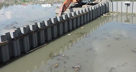 water control pvc sheet piles