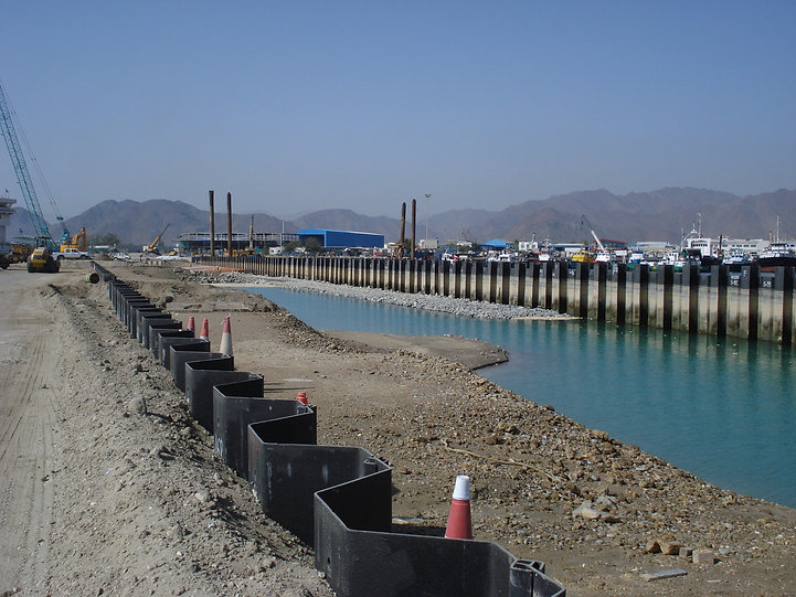 Sheet piles for a construction project