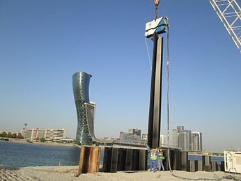 installation of sheet piles