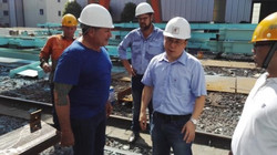 Customer Inspection of Bridge Compnents with ESC Quality Control Team