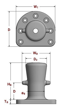 Single Bitt bollard specifications