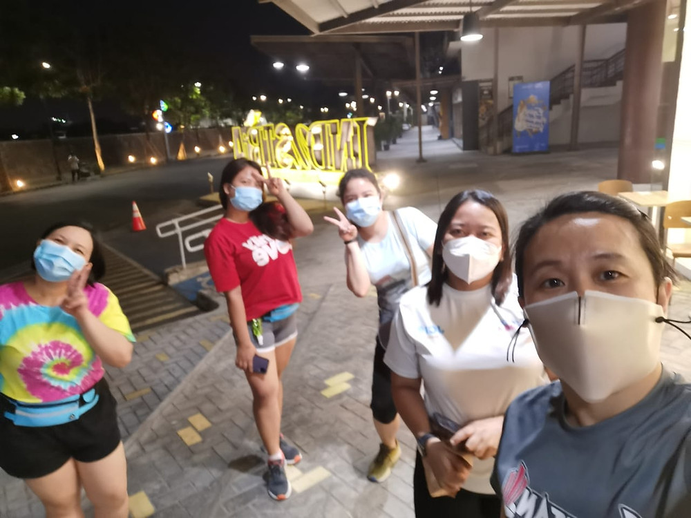 ESC Philippines team jogging