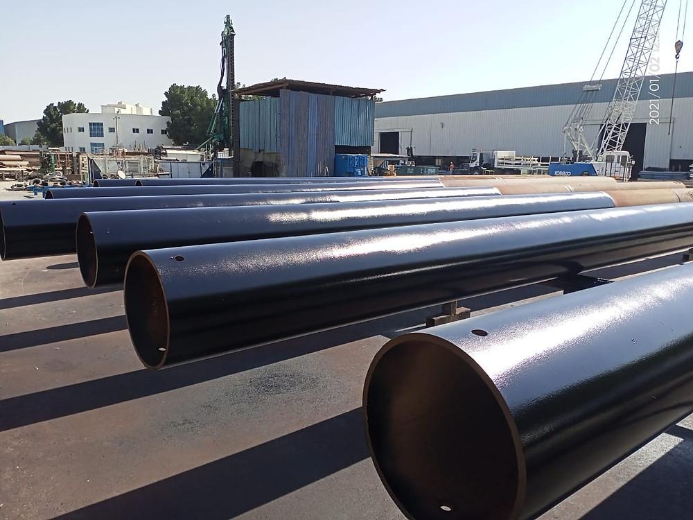 estacas de tubos de aço