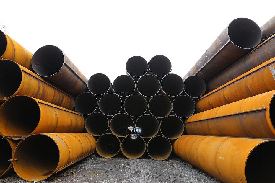 Steel tubular piles combination wall